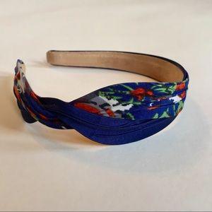 Anthropologie Twined Satin Headband in Navy